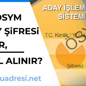AİS-ÖSYM Aday Şifresi