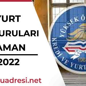 KREDİ YURT KURUMU Başvuruları Ne Zaman 2021-2022