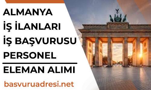 Almanya İş İlanları İş Başvurusu Personel, Eleman Alımı